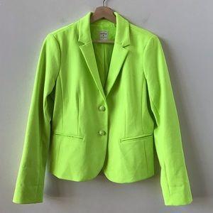 Gap neon green Academy Blazer